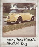 Photo Of Henry Ford Meckl's 1965 VW Bug