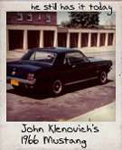 Photo Of John Klenovich's 1966 Mustang