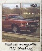Photo Of Kostas Frangelakis 1970 Mustang