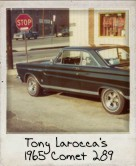Photo Of Tony Larocca's 1965 Comet 289